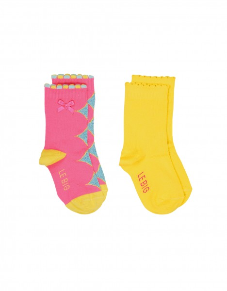 Nanna socks - bright pink