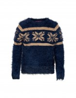Ice star sweater - dark blue