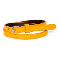 Patent belt - neon orange