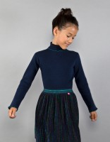 Paulette turtleneck sweater - dark blue