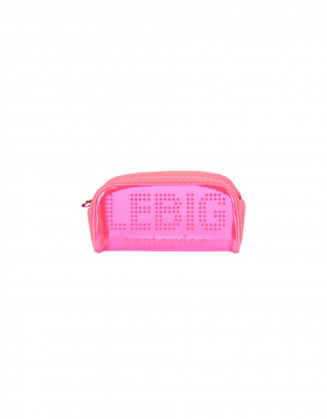 Houston cosmetic bag small - bright pink