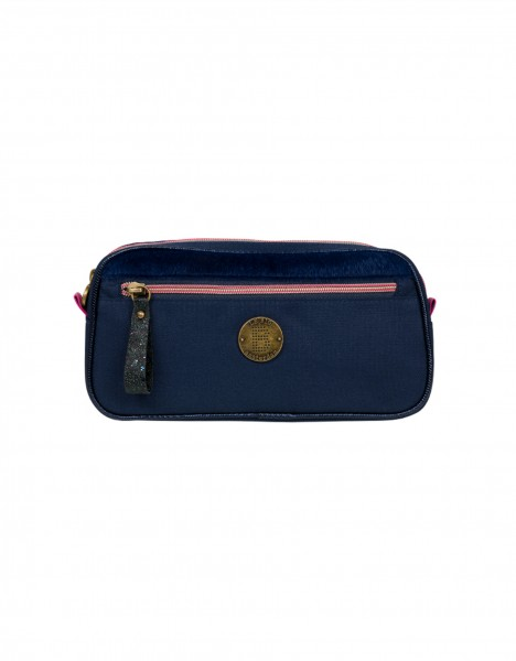 Londen pencil case - dark blue