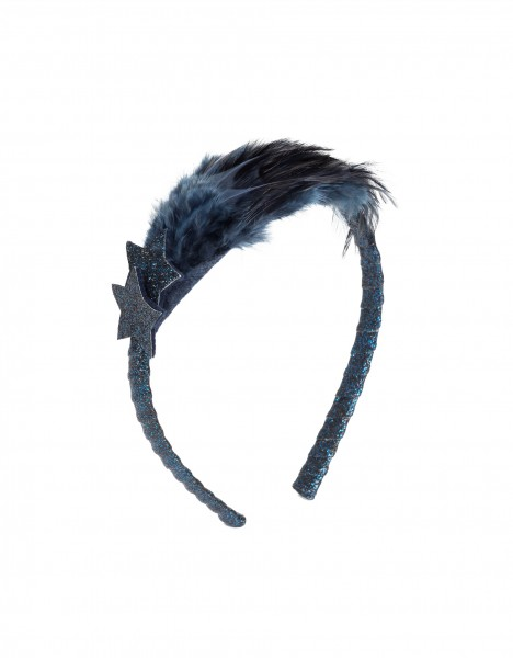Gisella headband - dark blue