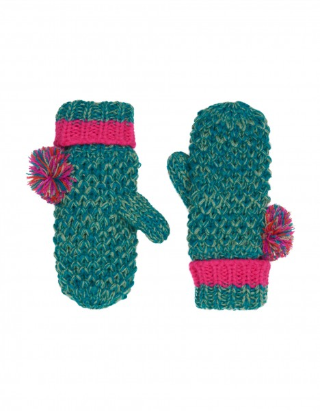 Keri mittens - dark green