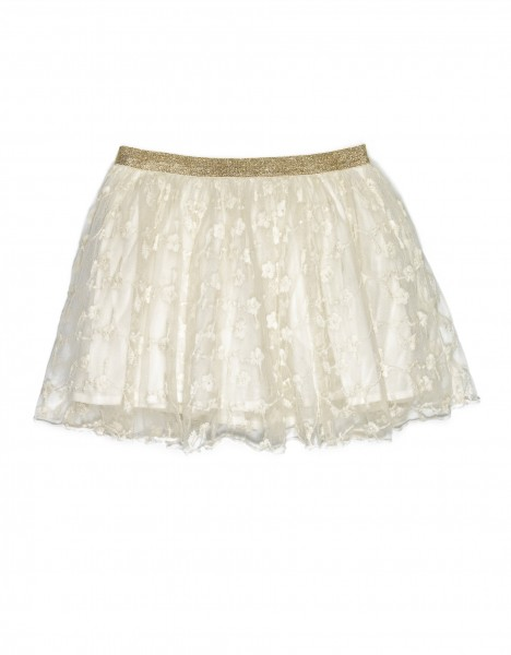 Embroidery skirt - off white