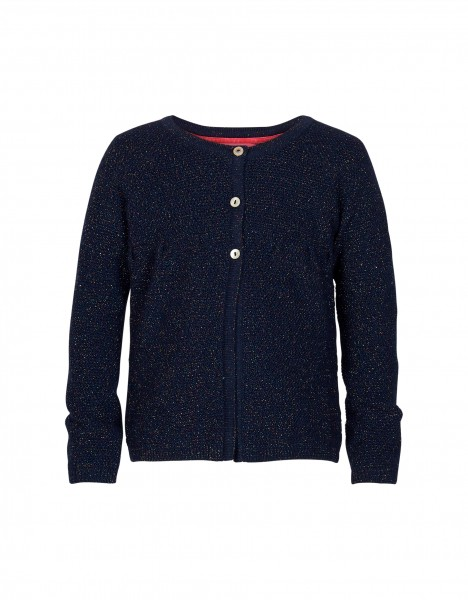 Paisley cardigan - dark blue
