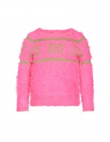 Ice star sweater - bright pink