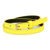 Patent belt - citron yellow