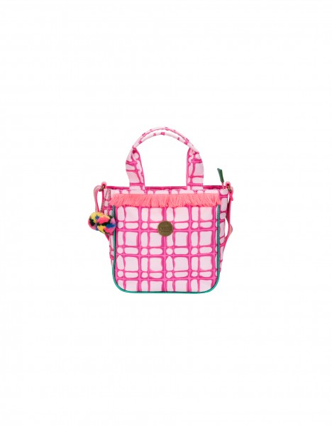 Geneva shoulder bag - bright pink