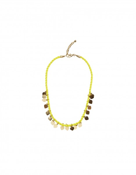 Nigella necklace - yellow