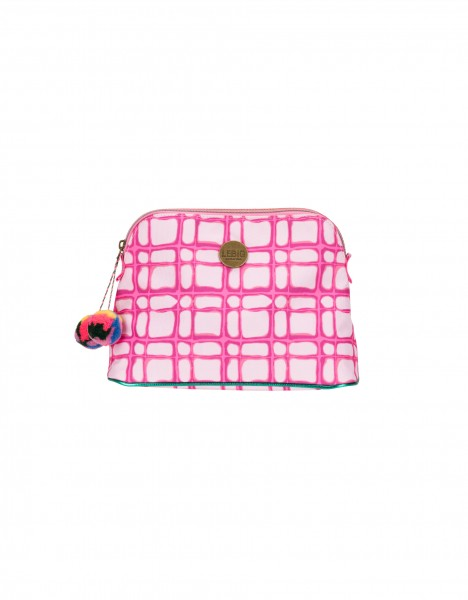 Boston cosmetic bag medium - bright pink